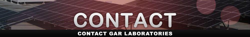 Contact GAR Laboratories